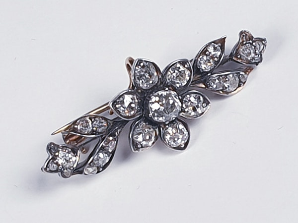 Victorian Diamond Spray Brooch - image 1