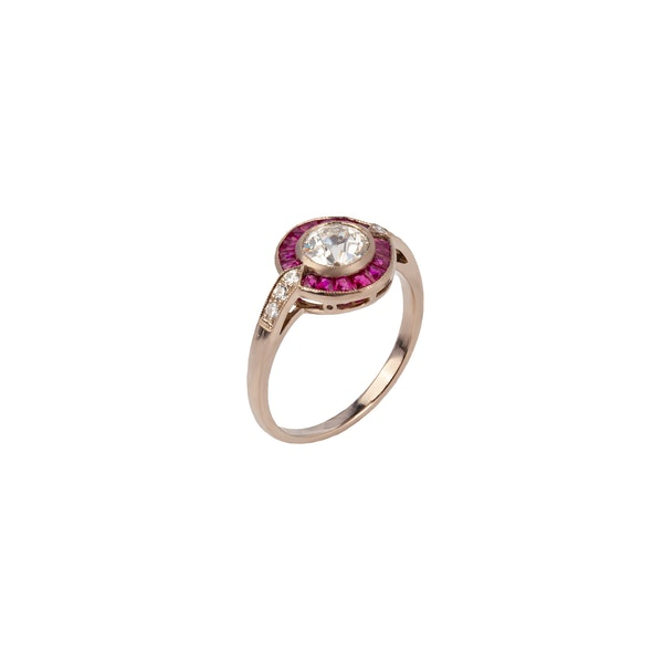 Diamond ruby target ring - image 1