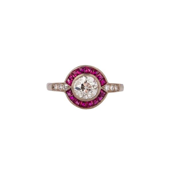 Diamond ruby target ring - image 2
