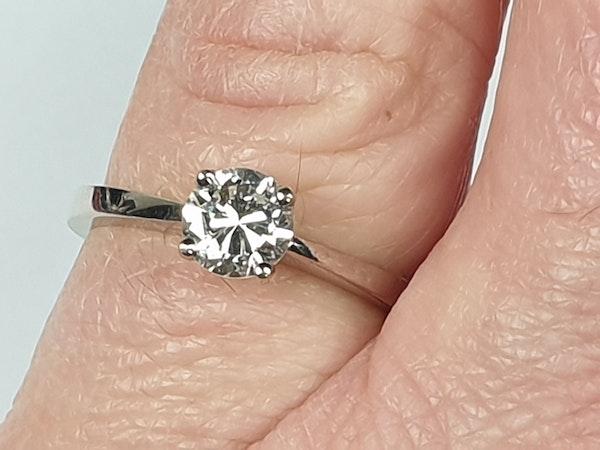 Single Stone Diamond Engagement Ring  DBGEMS - image 4