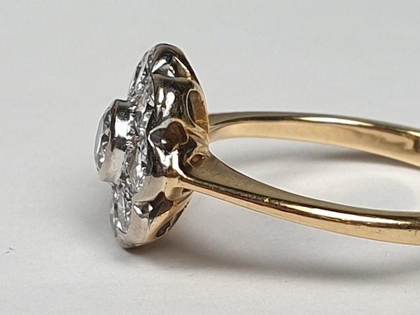 Rubover Diamond Cluster Ring  DBGEMS - image 3