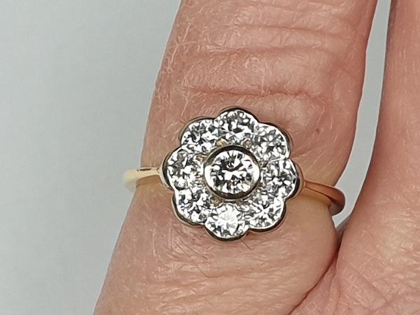Rubover Diamond Cluster Ring  DBGEMS - image 1