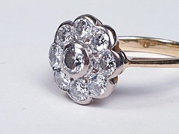 Rubover Diamond Cluster Ring  DBGEMS - image 2