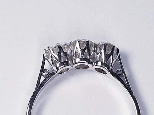 Antique Three Stone Diamond Ring  DBGEMS - image 2
