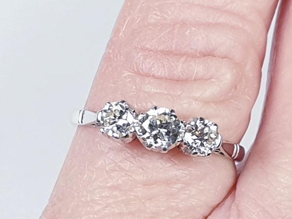 Antique Three Stone Diamond Ring  DBGEMS - image 4