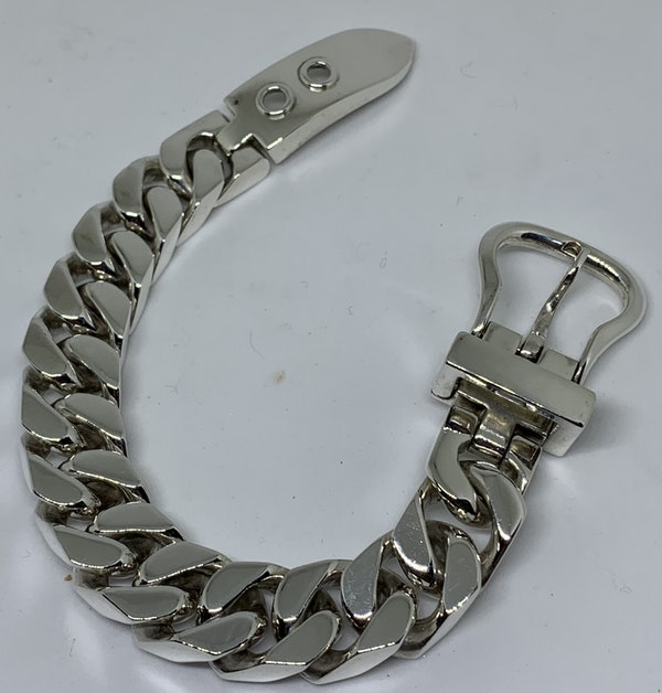 Hermes Silver bucket bracelet - image 1