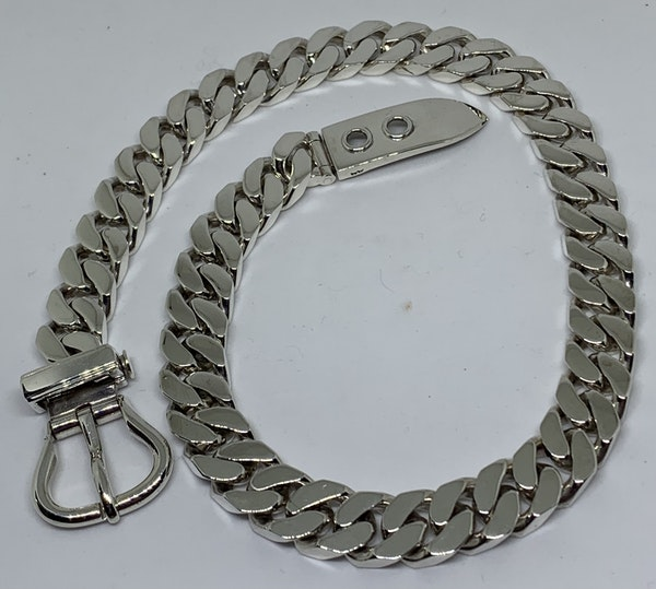 Hermes silver buckle necklace - image 1