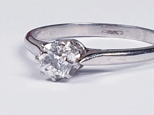 Old Cut Diamond Engagement Ring SKU: 3235   DBGEMS - image 2