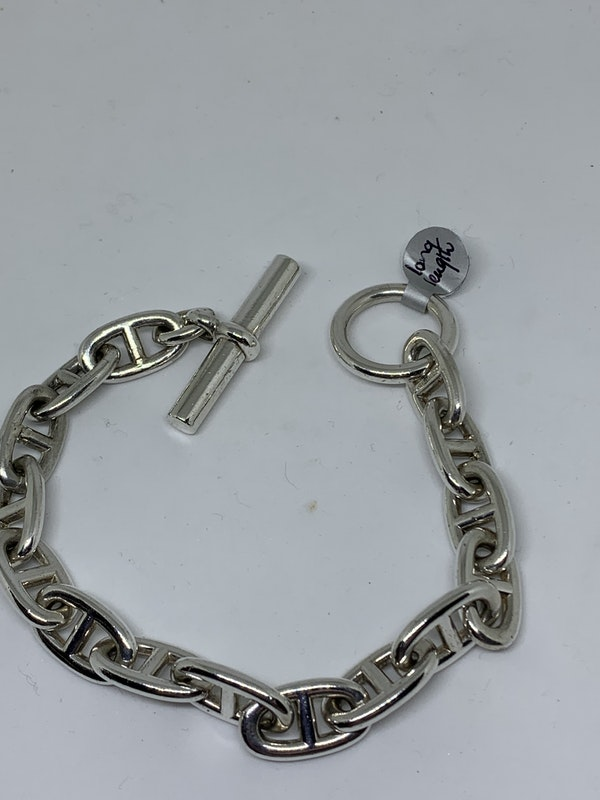 A Hermes Chaine D'Ancre silver bracelet - image 1
