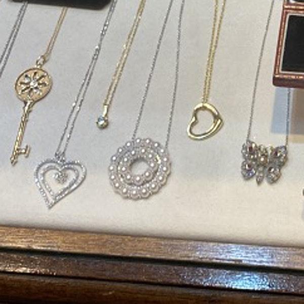 Date: circa 1910, 18ct Yellow/White Gold, Diamond, Ruby and Pearl stone set Pendant, SHAPIRO & Co since 1979 - image 6