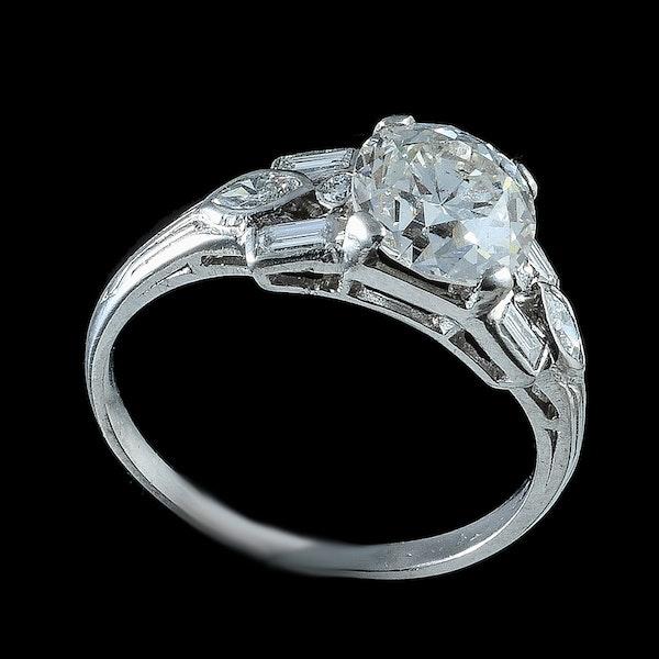 MM6231r diamond deco single  stone 1.50ct ring platinum set - image 2