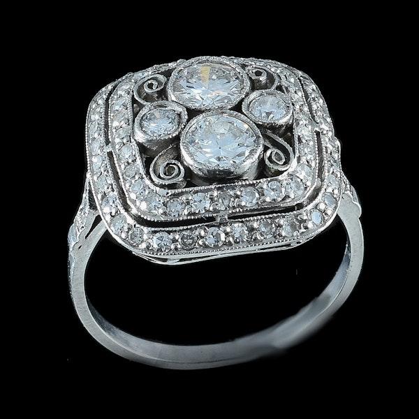 MM6234r Edwardian stylish  cluster ring 1910c - image 2