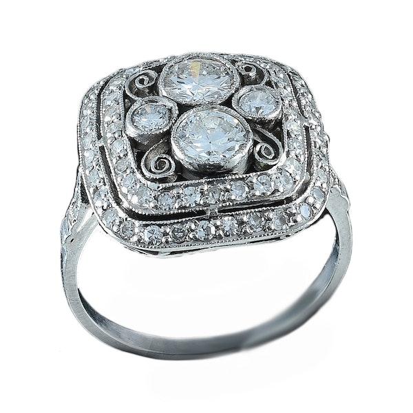 MM6234r Edwardian stylish  cluster ring 1910c - image 1