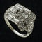 MM4092r platinum baguette and round diamond fine quality Art Deco 1930c wrap over ring - image 2