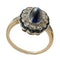MM4776r cab sapphire and diamond art Deco ring gold and platinum fine quality 1910/20c - image 1