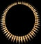 MM6389n Gold victorian Etruscan 1880c necklace. Stunning on. - image 1