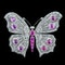 MM6212br Burmese ruby diamond butterfly brooch platinum set 1930/40c - image 2