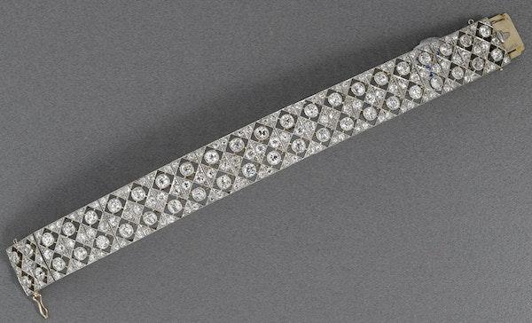 MM5651br Edwardian fine diamond platinum bracelet/ choker 1910c - image 2