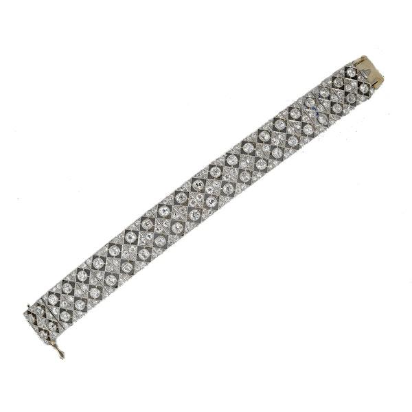 MM5651br Edwardian fine diamond platinum bracelet/ choker 1910c - image 1