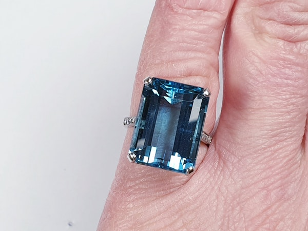 Aquamarine Dress Ring  DBGEMS - image 6