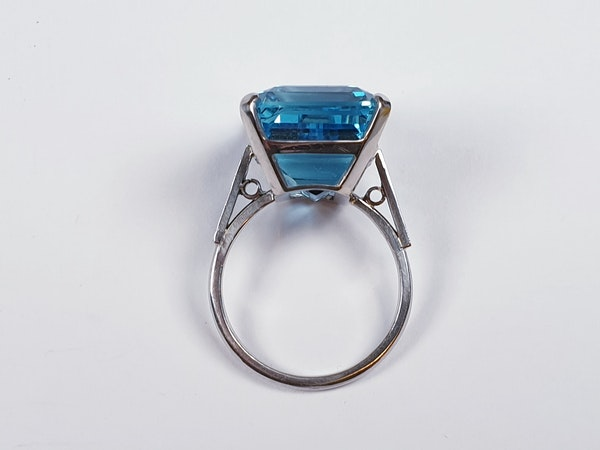 Aquamarine Dress Ring  DBGEMS - image 2