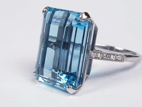 Aquamarine Dress Ring  DBGEMS - image 4