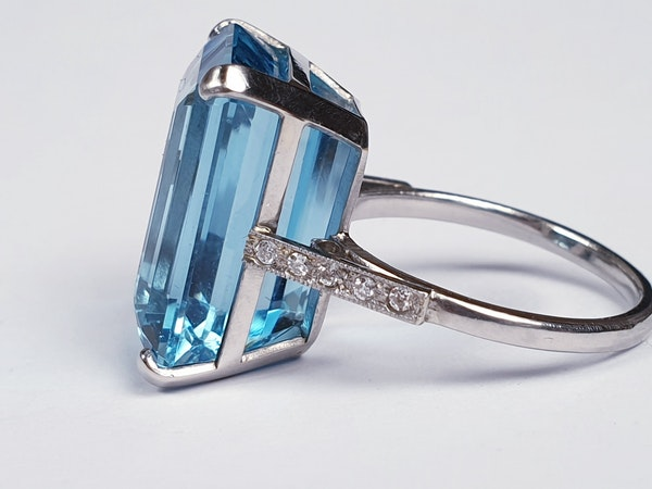 Aquamarine Dress Ring  DBGEMS - image 3