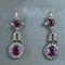 MM6197e Victorian ruby diamond drop  earrings super 1880c - image 1
