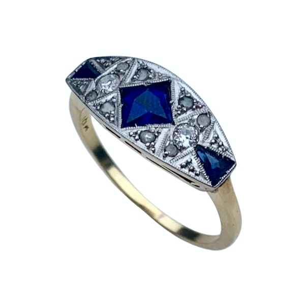 A Diamond and Sapphire Ring - image 2