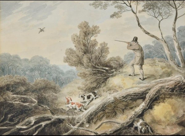 Samuel Howitt Watercolour Circa.1800. Shooting - image 1