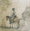 Paul Sandby RA Watercolour Study Cavalryman on horseback. - image 1