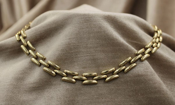 A very fine Link Necklace in 14ct Yellow Gold, Circa 1950 - image 1