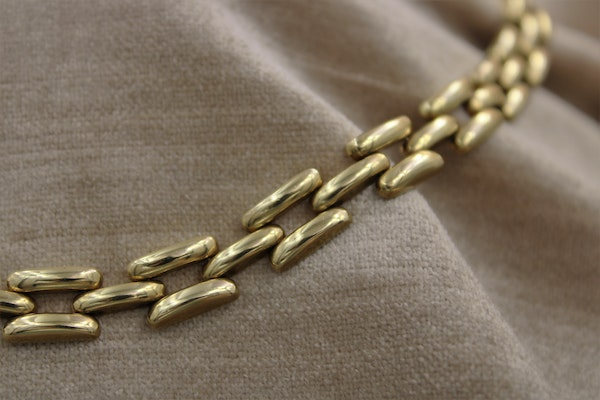 A very fine Link Necklace in 14ct Yellow Gold, Circa 1950 - image 2