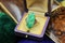 A superb Art Deco Carved Natural Jadeite Ring set in 9ct Yellow Gold, Circa 1930 - image 1