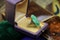A superb Art Deco Carved Natural Jadeite Ring set in 9ct Yellow Gold, Circa 1930 - image 3
