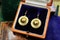 A very fine pair of Victorian Drop Earrings set in 15ct Yellow gold (tested), English, Circa 1900 - image 1