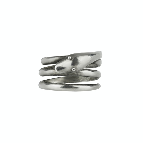 Victorian Silver Snake Ring - image 1