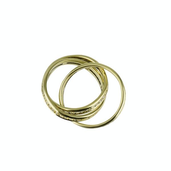 Three Band Diamond Ring - image 2