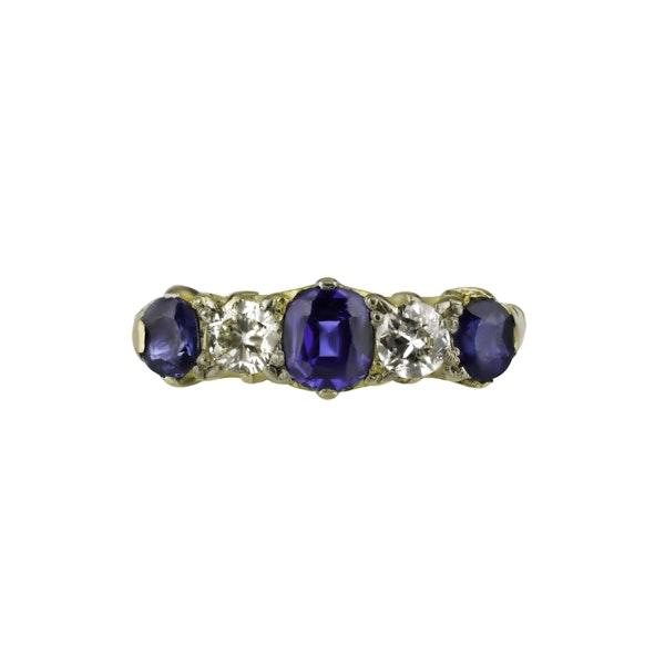 Victorian Sapphire & Diamond Ring - image 1