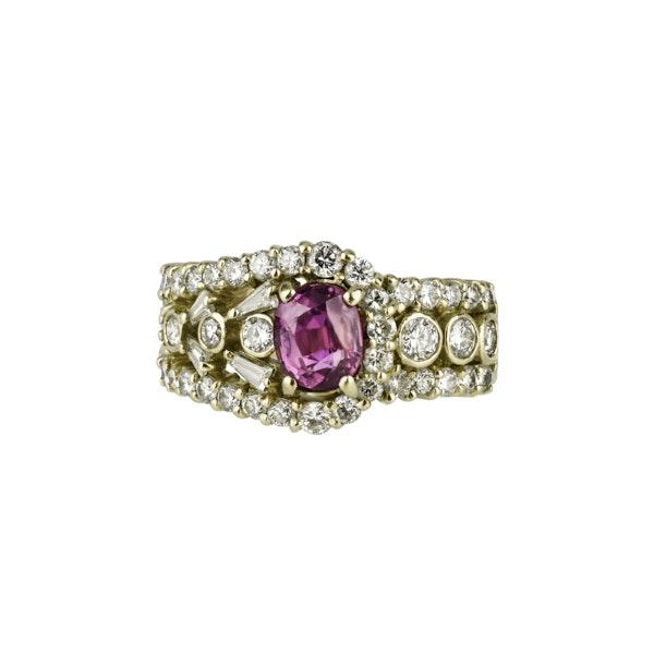 Ruby & Diamond 'Buckle' Ring - image 1