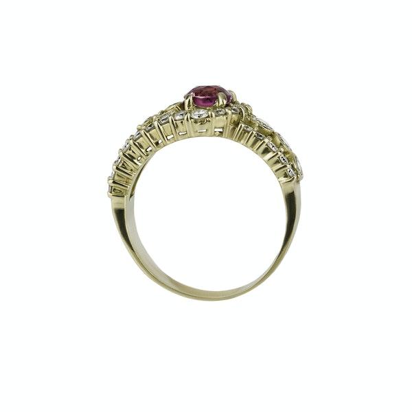 Ruby & Diamond 'Buckle' Ring - image 2