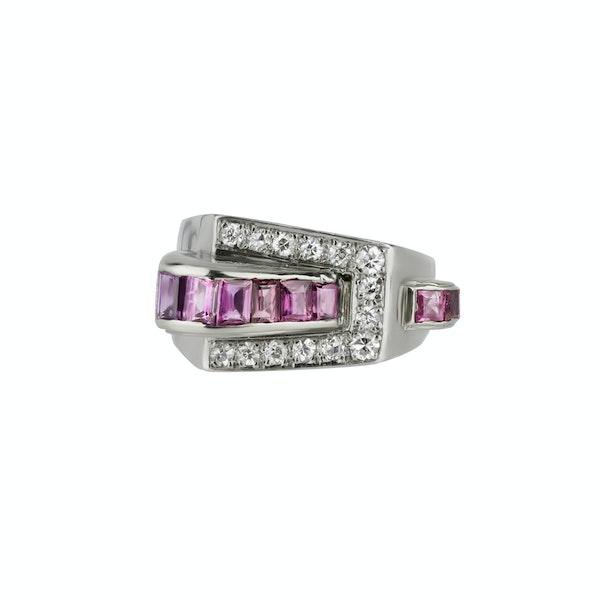 Ruby & Diamond Ring - image 1