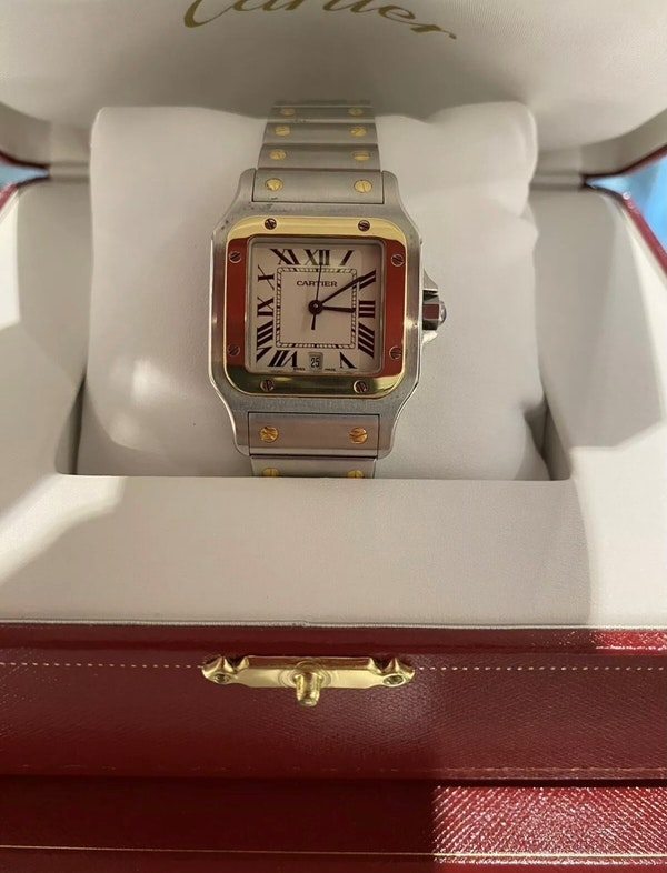 Gents Cartier Santos Steel and Gold year 2006 - image 1