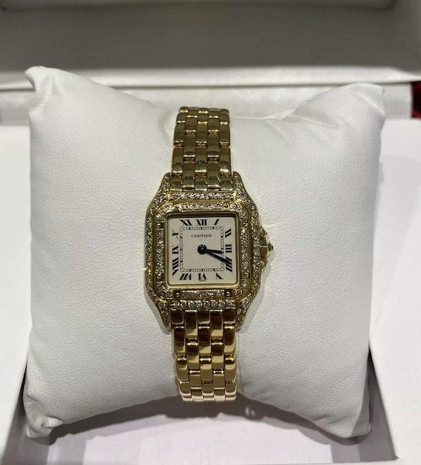Ladies Cartier Panthere 18ct diamond set - image 1