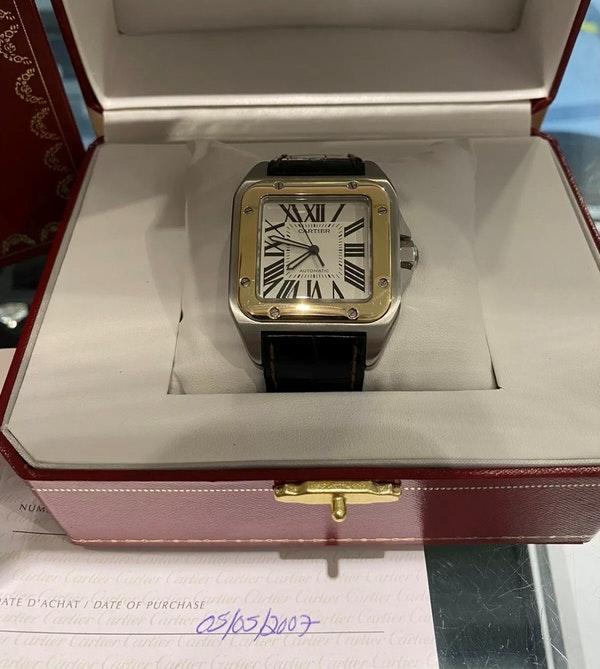 Cartier Santos 100 XL Steel & Gold year 2007 - image 1