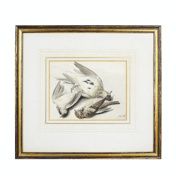 Samuel Howitt Watercolour Circa.1790. Still life study of birds - image 2