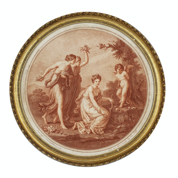 Angelica Kauffman Stipple Engraving Late 18th.Century. - image 1