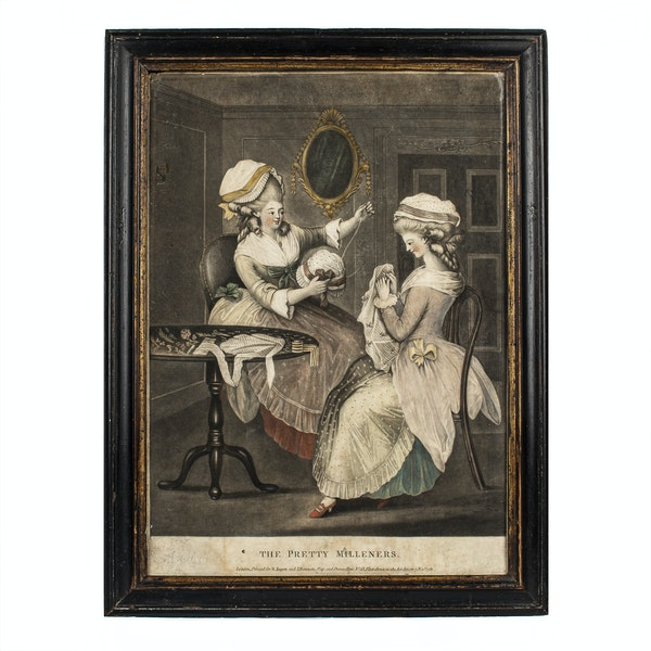The Pretty Milliners Late 18th.Century Mezzotint Engraving - image 1