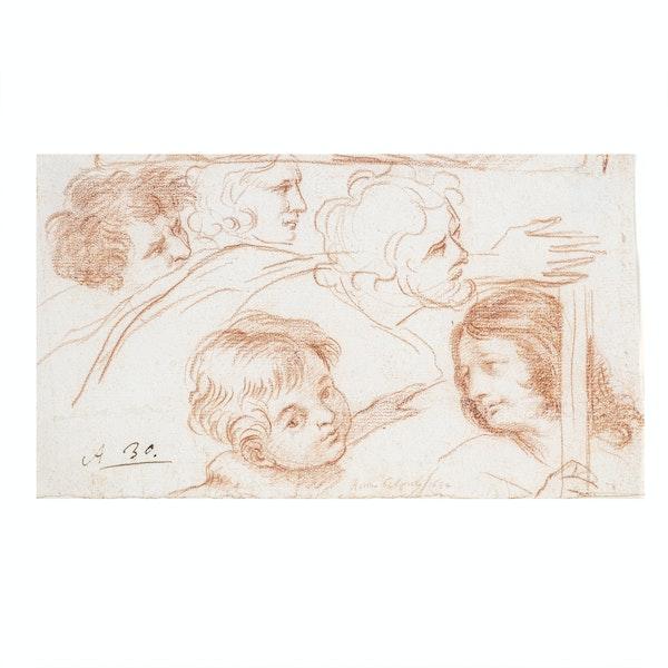 17th.Century Roman School Red Chalk Drawing - image 1