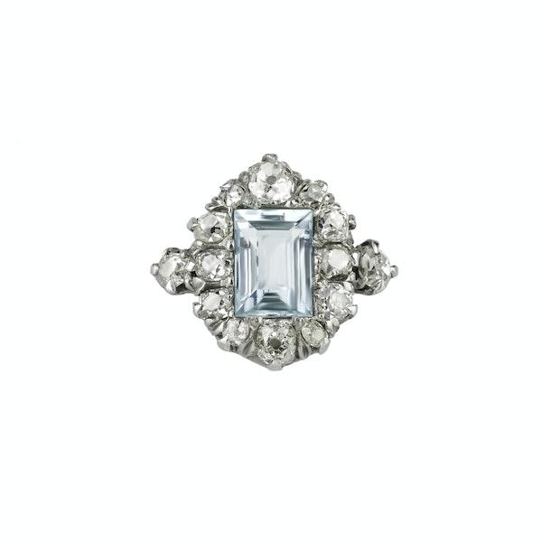 Aquamarine & Diamond Ring - image 1